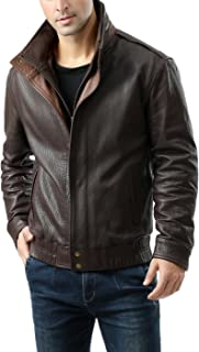 Men's Brandon New Zealand Lambskin Leather Bomber Jacket