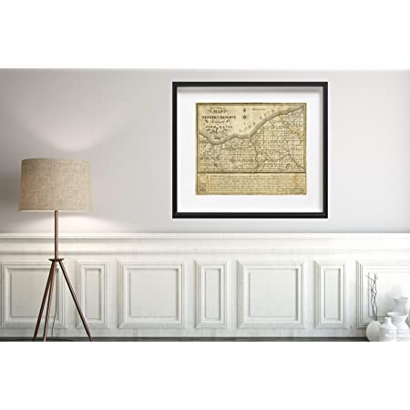 Map of The Western Reserve Including The Fire Lands in Ohio 1833 Historic Antique Vintage Reprint Size: 20x24 Ready to Frame