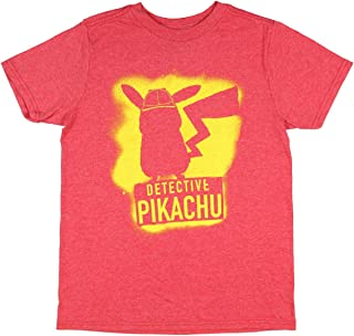 Detective Pikachu In The Shadows Big Boys' Short Sleeve T-Shirt