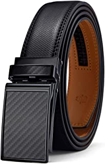 Sponsored Ad - Mens Belt,Bulliant Designer Click Genuine Leather Ratchet Belt For Men, Size-Customized