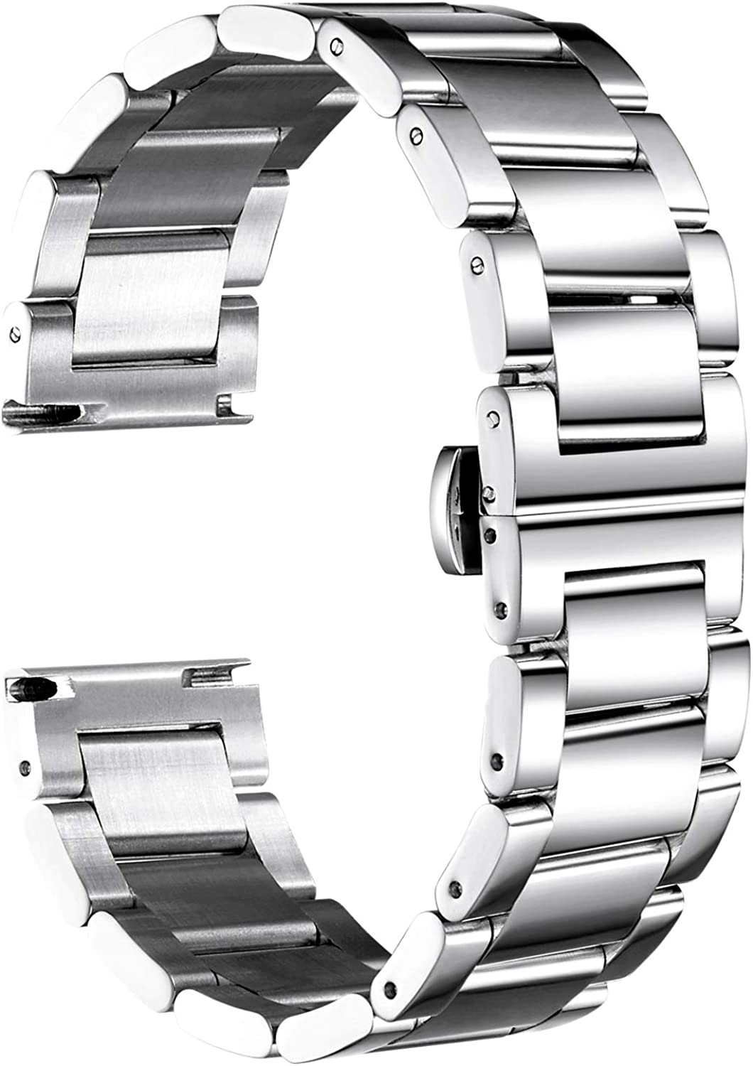 BINLUN Thick Light Stainless Steel Polished Watch 4 Omaha Mall Fixed price for sale Bands Colors