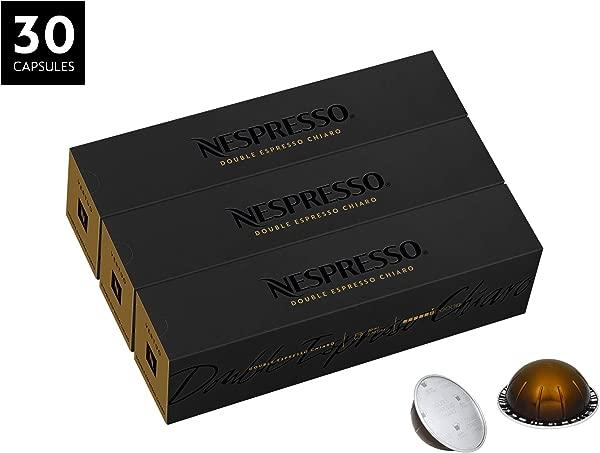Nespresso VertuoLine Double Espresso Chiaro Mild 30 Capsules