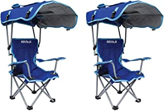 Kelsyus Kids Original Folding Backpack Foldable Lounge Outdoor Lawn Chair with Arm Rest and 50+ UPF Sun Protection Canopy,...