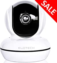 ELOTECH Home Security IP Camera 1080p HD, Wireless Wifi Smart Indoor Camera with Night Vision, Two Way Audio, Motion Sensor, Pan/Tilt, SD Card Slot for Baby, Kids, Pet, Nanny Monitoring