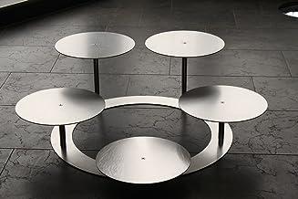 Taartstandaard taartstandaard aluminium 3 etages rond, bruidstaartstandaard Ø 30 cm