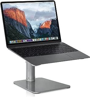Mount-it! Adjustable Height Laptop Stand for MacBook | Ergonomic Laptop Stand Riser | Tilted Laptop Lift for MacBook Air, MacBook Pro and 11-15 inch Laptops