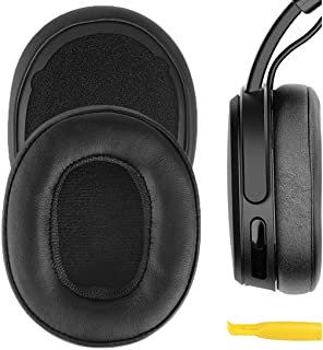Geekria QuickFit Protein Leather Ear Pads for Skull.Candy Crusher Wireless Crusher Evo Crusher ANC Hesh 3 Headphones, Repl...