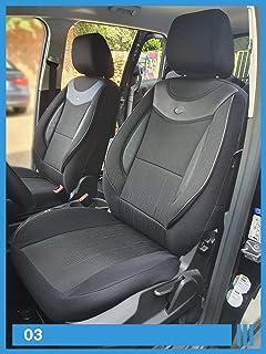 Maß Sitzbezüge kompatibel mit VW T5 T6 Caravelle/Transporter Fahrer & Beifahrer ab BJ 2003 Farbnummer: 03