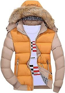 Men Winter Warm CoatMen's Winter Warm Hooded Zipped Thick Solid Fleece Coat Cotton-Padded Jacket