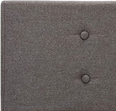 SKM Cadre de Lit Taupe Tissu 90 x 200 cm834