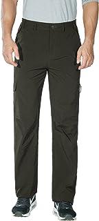 Nonwe Men's Quick Dry Lightweight Cargo Pants Green L/30 Inseam