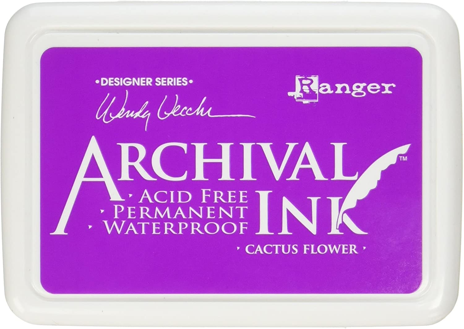 Ranger Genuine Free Shipping Wendy Vecchi Archival Cactus Pad Flower Ink Import