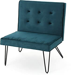 Christopher Knight Home Darrow Velvet Modern Armless Chair, Teal
