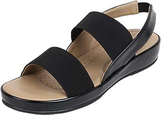 Catwalk Women's Black Flat Slip Fashion Espadrille