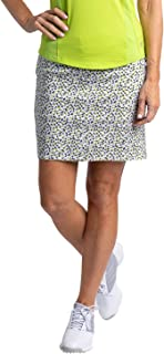 SLIM-SATION Women's Golf Wide Band Pull On Print Skirt with Real Pockets