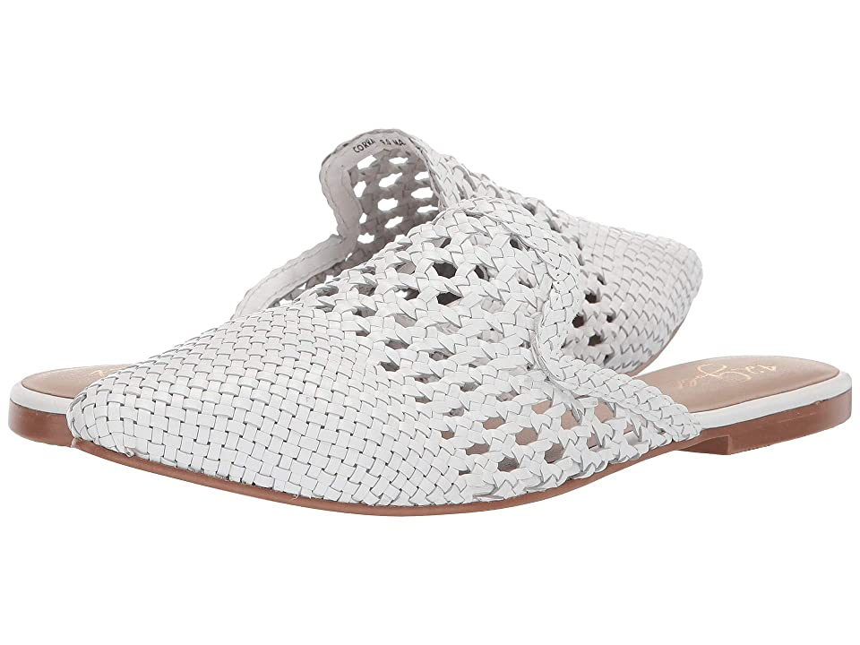 Image of 42 GOLD Corra (White Leather) Women's Flat Shoes