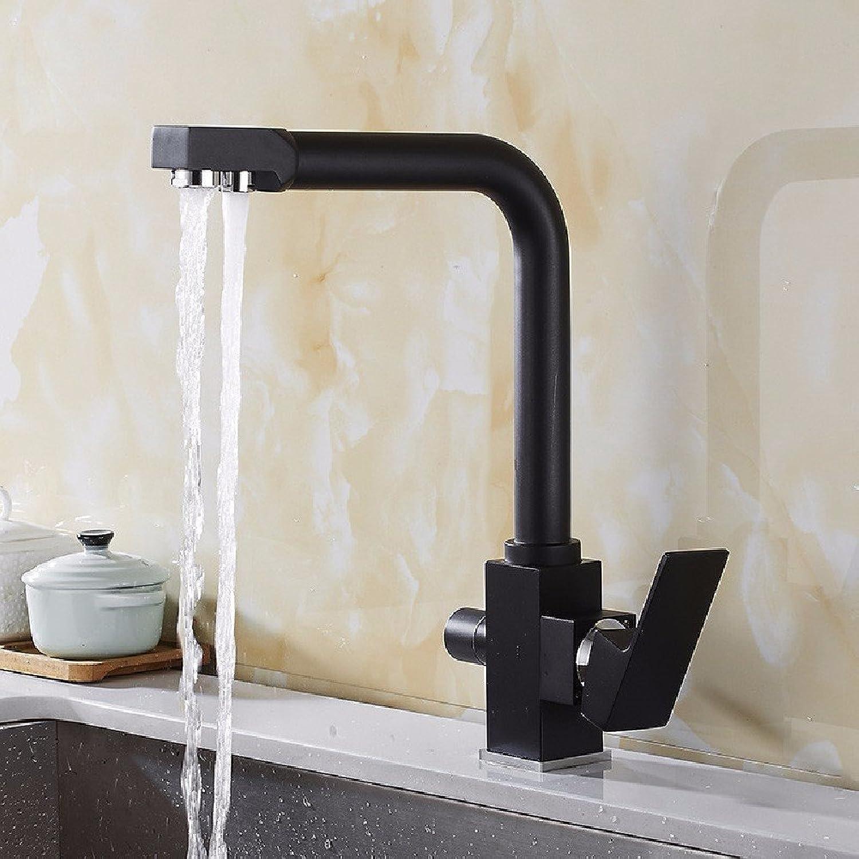 Bijjaladeva Wasserhahn Bad Wasserfall Mischbatterie Waschbecken Waschtisch Armatur für BadezimmerKüche Wasserhahn 3 mit sauberem Wasser (Leitungswasser Wasser Rotation Tippen