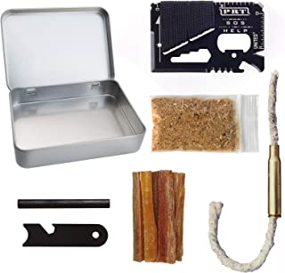 Kaeser Wilderness Supply Firestarting Tinder Torch Survival Tin Fatwood Sticks Ferro Rod
