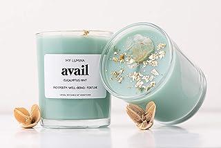 My Lumina Avail Money Drawing Candle - Smudging Chakra Balancing Healing Candle Natural Soy Wax - Eucalyptus and Spearmint...