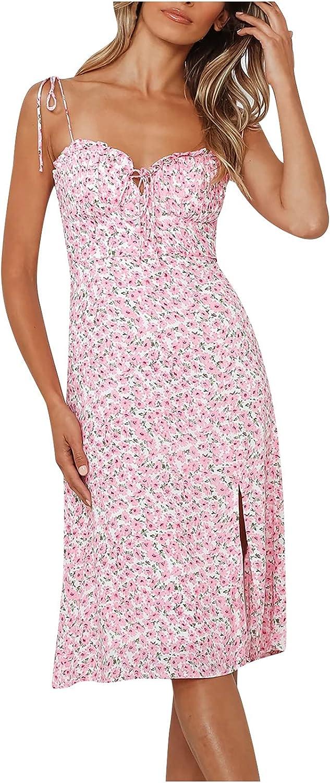 Assletes Fashion Women V-Neck Spaghetti Strap Skirt Summer Sexy Printing Backless Sleeveless Camis Dresses