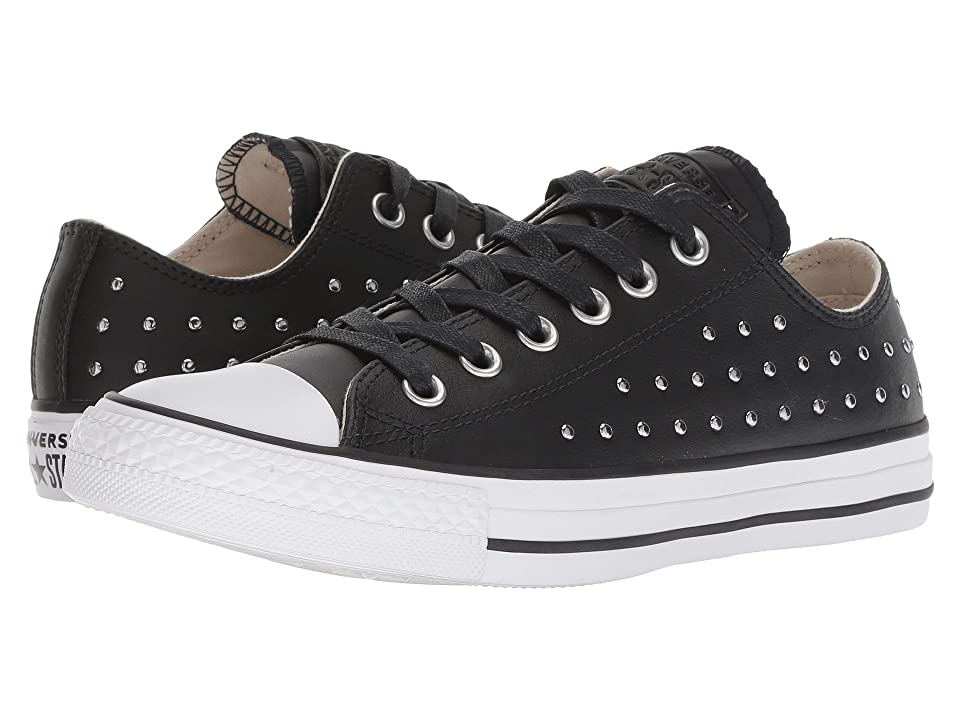 Converse Chuck Taylor All Star Leather Studs Ox (Black/Black/Silver) Women