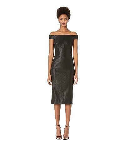 Zac Posen Lurex Party Jacquard Dress (Gunmetal) Women