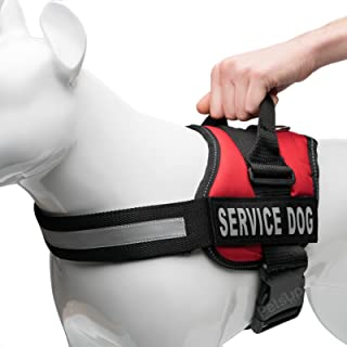 PetsUp Service Dog Harness, Chest Body Belt for Dogs (50-63CM Girth) Red