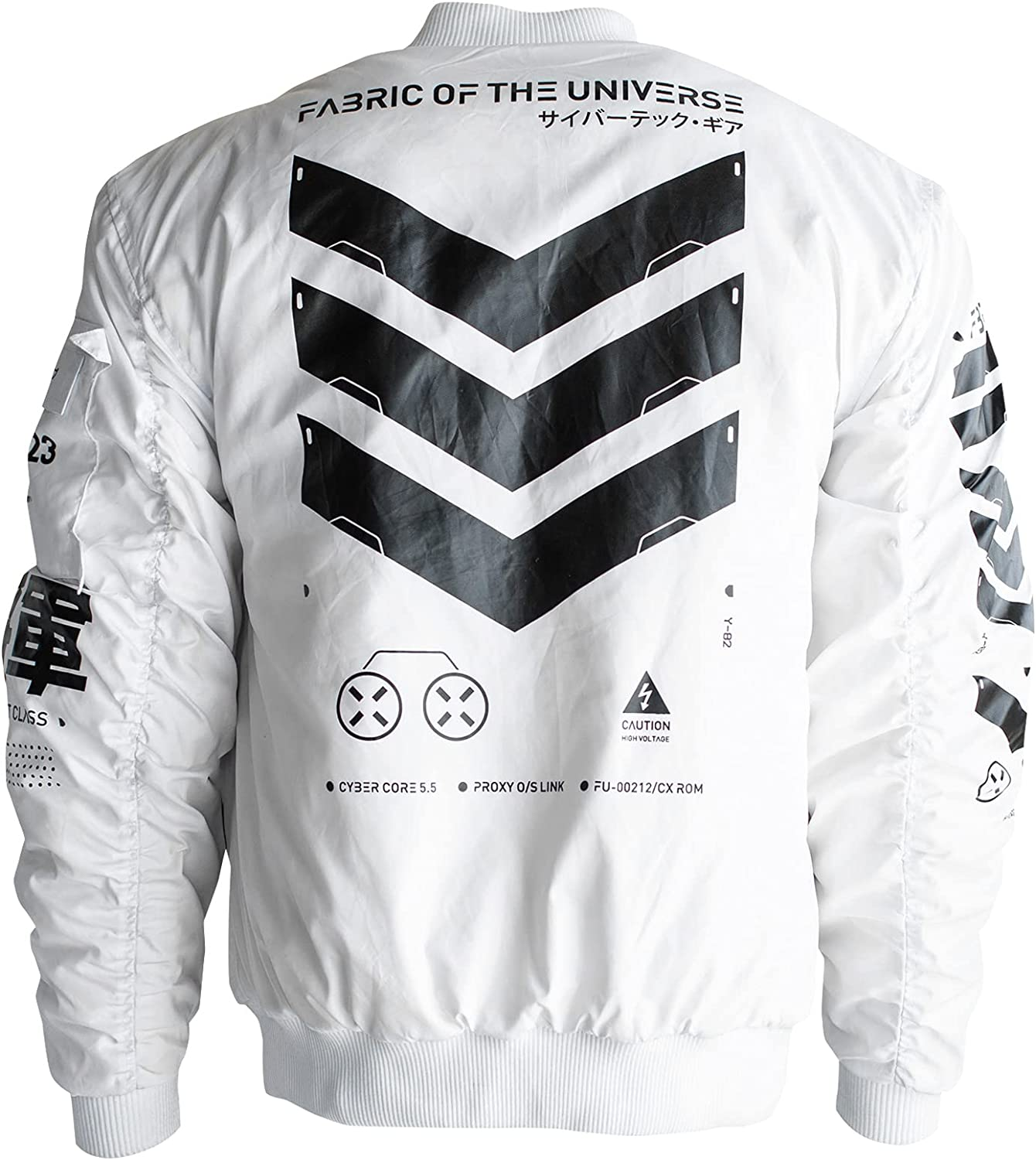 Fabric Seasonal Wrap Introduction of the Max 86% OFF Universe Techwear Fashion Graphic Bomber Jacket