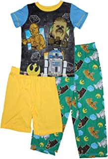 Star Wars Chewbacca Boys 3-Pc. Pajamas 4-12
