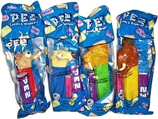Ice Age 2 Pez Candy Dispensers : Sid Sloth, Diego Tiger, Manny Mastadon, Scrat Squirrel Set of 4