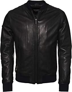 Superdry Leather Flight Bomber Jacket
