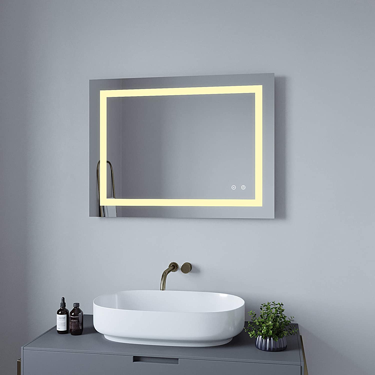 Buy Aquabatos 32 X 24 Illuminated Led Bathroom Mirror Led Mirrors Light With Sensor Demister Adjustable Warm White Daylight Lights Dimmable Memory Touch Button Ip44 Waterproof Online In Taiwan B082tqhyrr