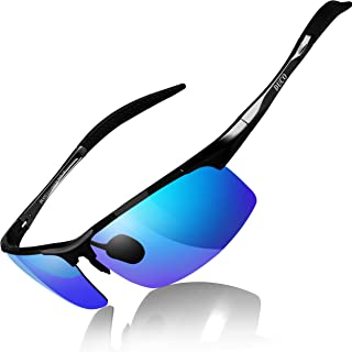 Mens Sports Polarized Sunglasses UV Protection Sunglasses...