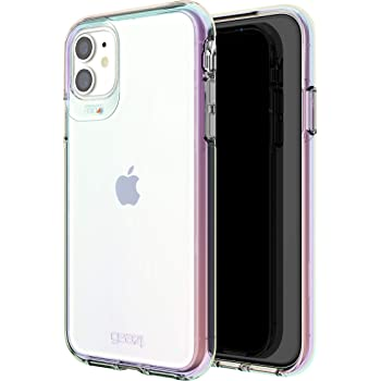 Gear4 Crystal Palace Iridescent Compatible with iPhone 12 Pro, iPhone 12, Advanced Impact Protection with Integrated D3O Technology, Anti-Yellowing, Phone Cover – Iridescent (702006043)