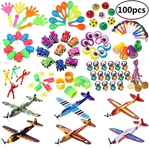 IBaseToy Party Prizes 100PCS Bag Fillers Toys For Kids Favors Toy Assortment