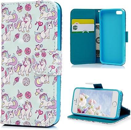 Cover iPhone 5S Flip Custodia iPhone 5 SE Libro Pelle PU e TPU ...