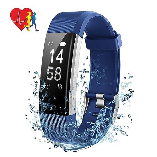 Mpow Montre Connectée Bracelet Connecté Intelligent IP67, GPS, Charge Rapide, Podomètre, Fitness Tracker d'Activité Moniteur de Sommeil, Fréquence Cardiaque, Calorie, Cadeaux pour Homme Femme Enfant