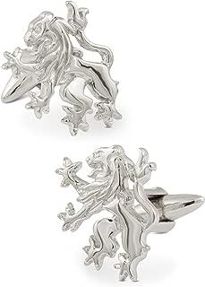 ZAUNICK Rampant Lion Cufflinks Sterling Silver Handcrafted
