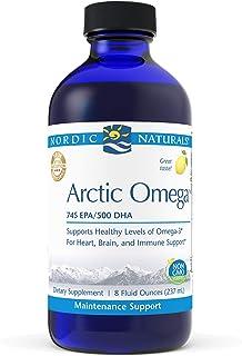 Nordic Naturals Arctic Omega, Lemon Flavor - 1560 mg Omega-3-8 oz - Fish Oil - EPA & DHA - Immune Support, Brain & Heart H...