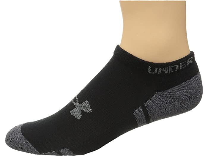 Under Armour UA Resistor® III 3.0 No Show 6-pack Men/'s Black Athletic Socks