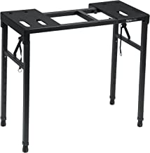 Gator Frameworks Keyboard and Audio Utility Table with Multi Point Adjustability and Built in Leveling Bubble; Min/Max Hei...