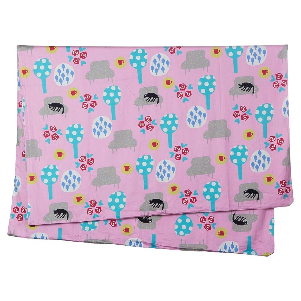 に関して深遠熟した西川(Nishikawa) 掛け布団カバー ピンク シングル マタノアツコ 夢見る猫 綿100% 日本製 着脱簡単 PI09700633P