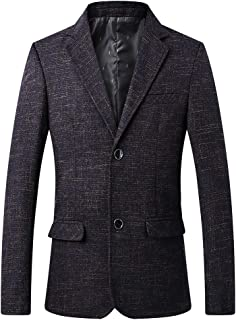 YOUTHUP Mens Business Suit Jacket Single Breasted 2 Button Slim Blazer Casual Outwear Coat