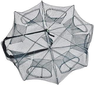Dilwe Angeln Fischer Netz Wurfnetz, tragbare Faltbar Fischernetz Käfigfalle Casting Net..