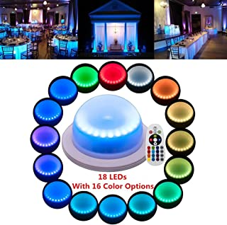 LACGO 16 Color Options Remote Control Chargable Waterproof Swimming Pool Light, with18 Bright Multi-Colored LEDs, LED Garden Corridor Night Light, for Home, Wedding Decor(Pack of 1)