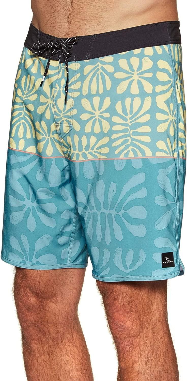 RIP CURL Herren Mirage Salt Water 19  Boardshorts Board Segeln Stiefelfahren Wassersport Shorts Blau - Mirage pro fabirc
