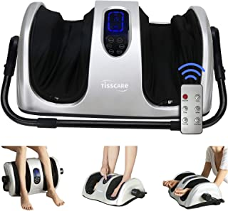 TISSCARE Foot Massager Machine with Heat, Shiatsu Foot and Calf Massager for Plantar Fasciitis and Neuropathy, with Deep K...