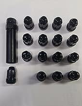 ATV UTV Black Lug Nuts 12mm x 1.5 w/ Socket (Set of 16) Polaris RZR XP 1000 Honda Pioneer 1000 Can Am X3 12x1.5 1215