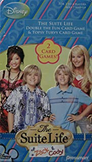 The Suite Life of Zack & Cody 2 Card Games in Collector Tin - Double The Fun and Topsy Turvy by Pressman Toy