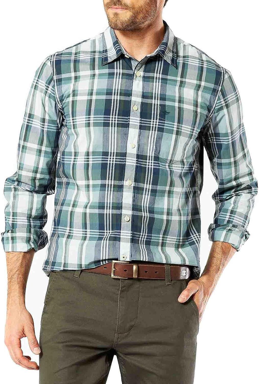 Dockers Camisa Laundered Poplin Welch: Amazon.es: Ropa y ...